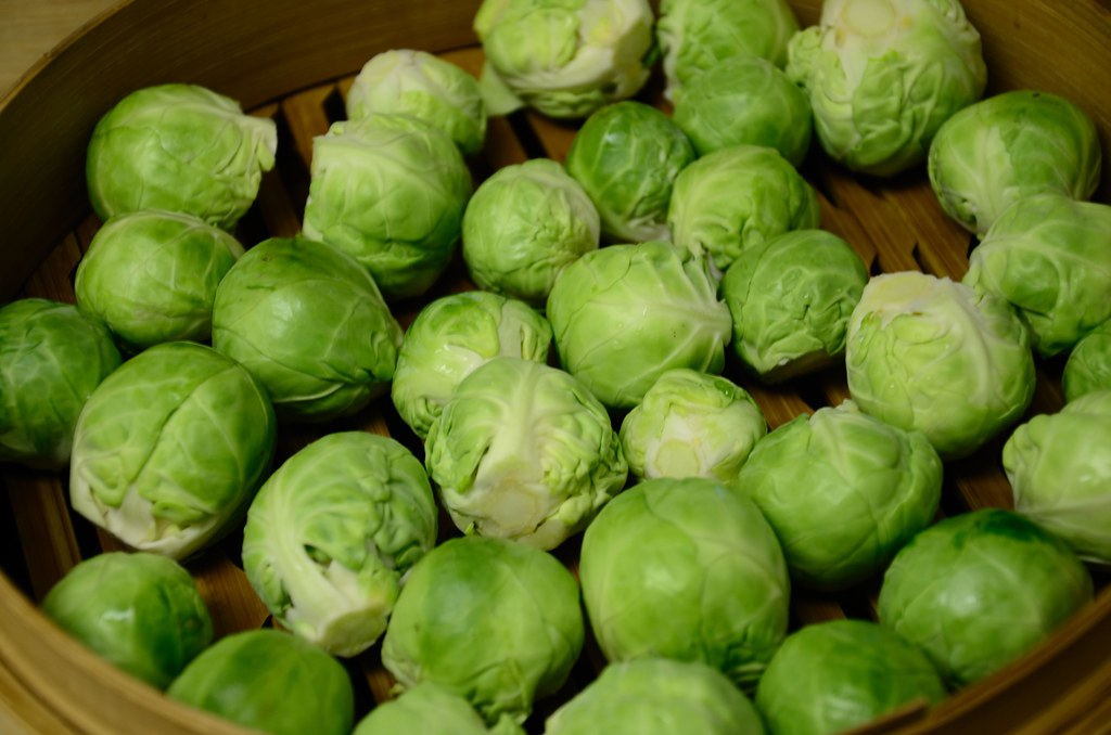 brussels sprouts frozen, cooked, boiled, drained, with salt