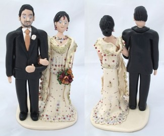 Fimo Wedding Cake Toppers by pauline@weddingtreasures