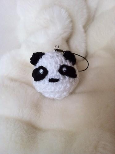 Panda phone charm