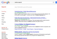 Online Search - Google