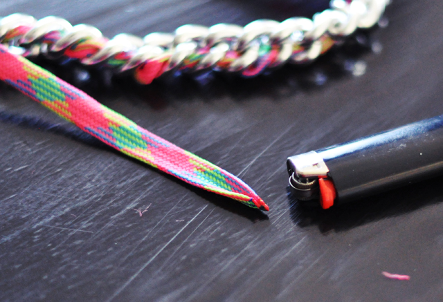 neon chain necklace diy-5