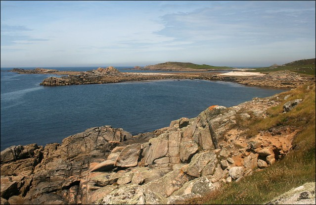 View back to Pernagie Point, St Martins