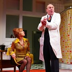 Paxton Whitehead as Dr. Rance and Amy Van Nostrand as Mrs. Prentice in the Huntington Theatre Company's production of