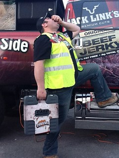 Derek Smith enjoying some Jack Link's BeefJerky