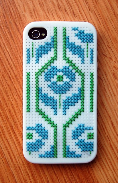 cross stitch iphone