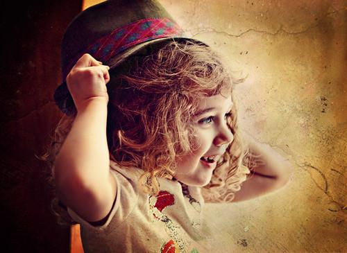 [フリー画像素材] 人物, 子供 - 女の子, 帽子, 人物 - 横顔・横を向く, アメリカ人 ID:201202071600