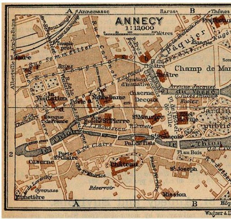 ANNECY 1914 MAP