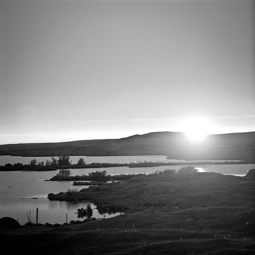 "Image titled ""Sunset over Mývatn Lake, Iceland."""
