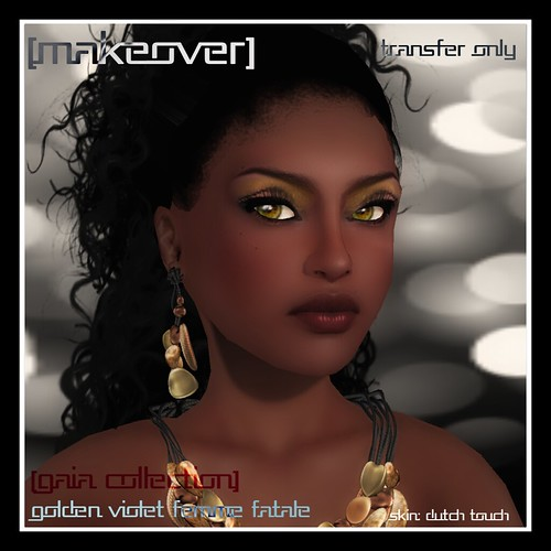 Golden Violet Femme Fatale Makeover @ Mock Cosmetics (Gaia Collection) by Mocksoup