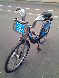 Trying out my first London bike share! #bikelondon