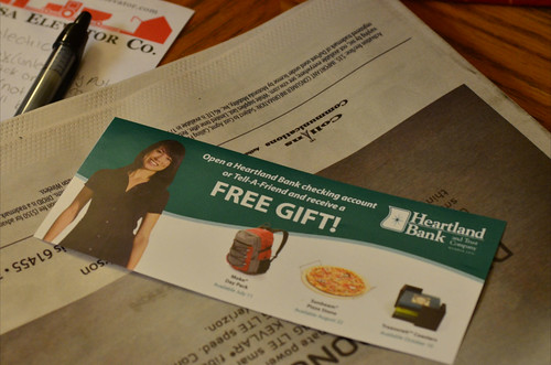 Ignore Freebies Given Just for Signing Up for Financial Accounts (62/365)