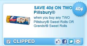 Pillsbury Sweet Rolls Or Grands! Sweet Rolls Coupon