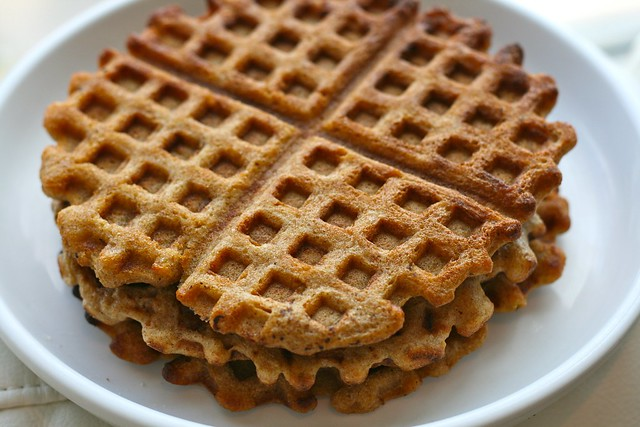 Whole Wheat Sourdough Waffles