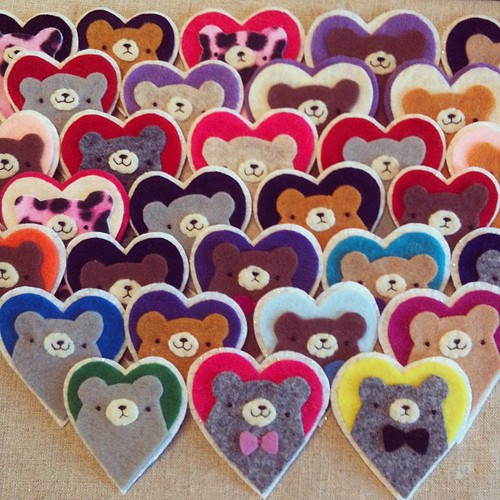 Pudgy bear heart brooch army!