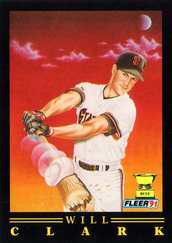 Baseball Card Bust Will Clark 1991 Fleer Pro Visions