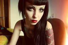 Question What Tumblr scene girls with black hair commit