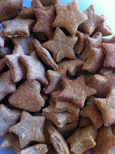 Peanut butter stars for pooches
