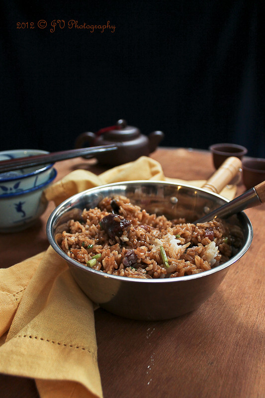 Chinese Waxed Meats Rice (Lap Mei Fan) 腊味饭