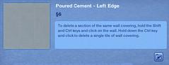Poured Cement - Left Edge