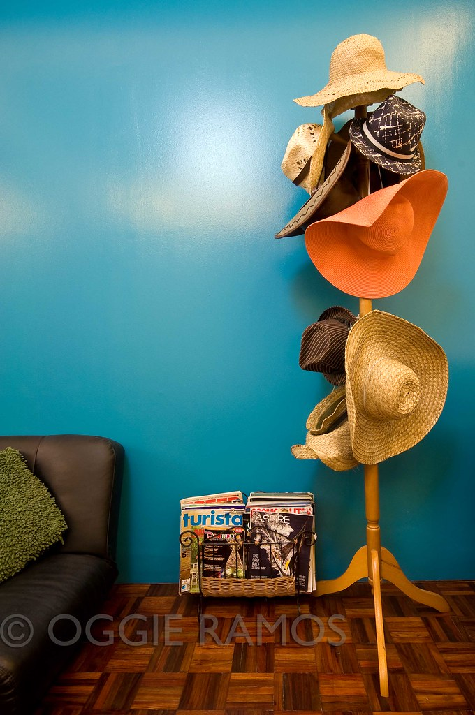 Our Melting Pot - Hat Stand and Bold Colored Wall
