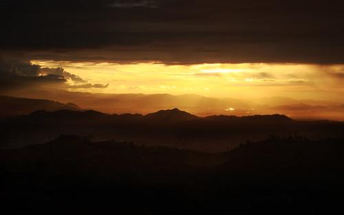 sunset orange sun