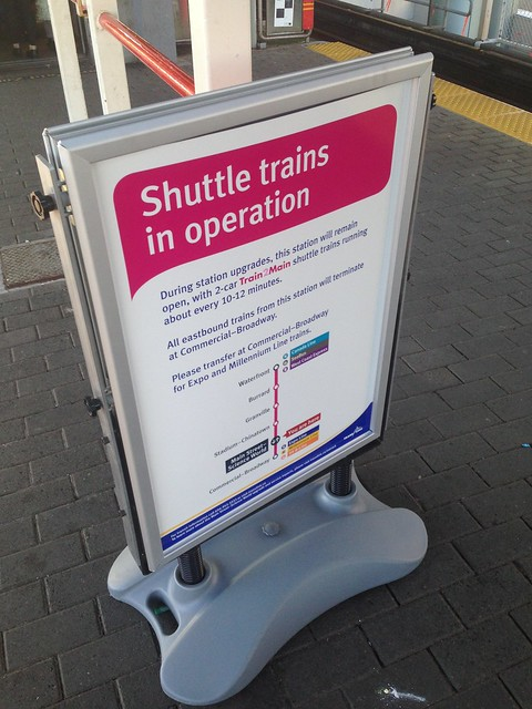 Shuttle trains in operation