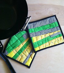 Modern Quilted potholders hot pads