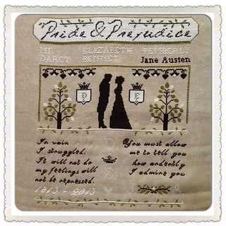 Pride & Prejudice Sampler by The Primitive Hare