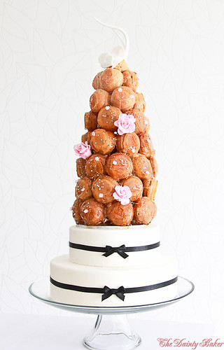 Croquembouche wedding cake-13