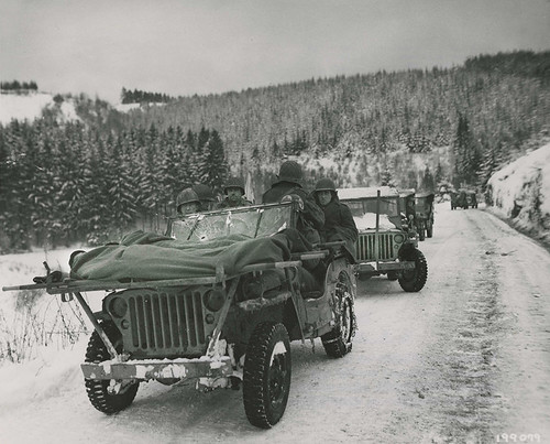 Jeep Transporting Wounded Soldier by lee.ekstrom