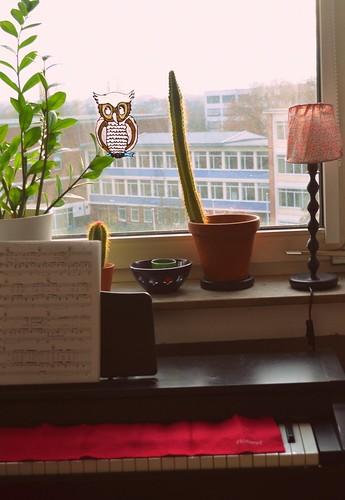 Wenn ich jetzt aus dem Fenster schaue sehe ich links die FH, geradeaus eine Berufsschule(ich kann nun Morgens immer pünktlich mit dem ersten Gong aufstehen)und rechts die Deutzer Brücke