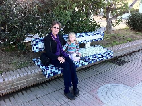 Bench Sitting with Grandma