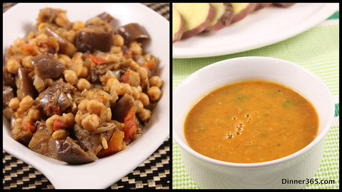 Day 331 - Tomato Soup and Eggplant Chick Pea Stew
