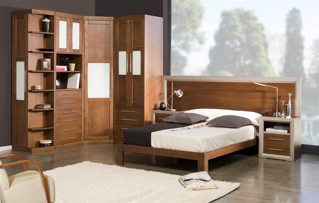 Muebles santi ropero de 70 cm armario esquina libreria for Roperos de madera para dormitorios