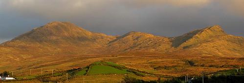 ireland mountains galway landscape connemara goldenhour