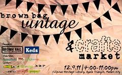vintage and craftsmarket poster banner copyres
