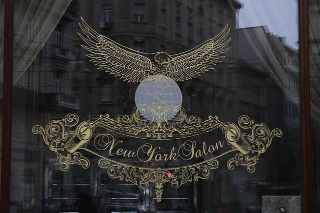 Vitrina del New York Kávéház de Budapest