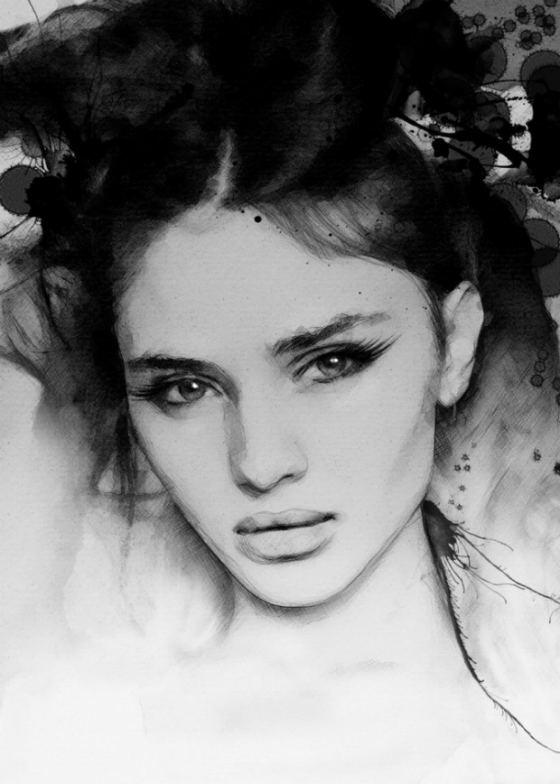pinturas en blanco y negro