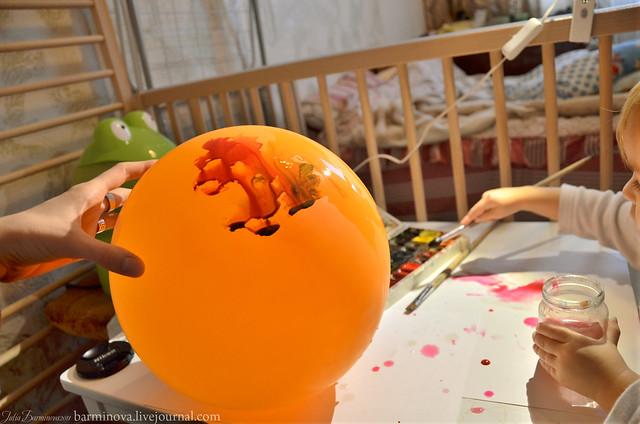 Монотипия на воздушном шаре