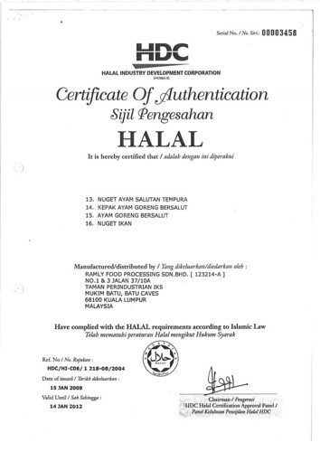 Sijil Halal Ramly