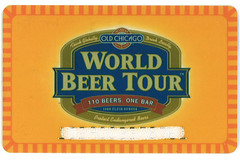 Victor World Beer Tour Card
