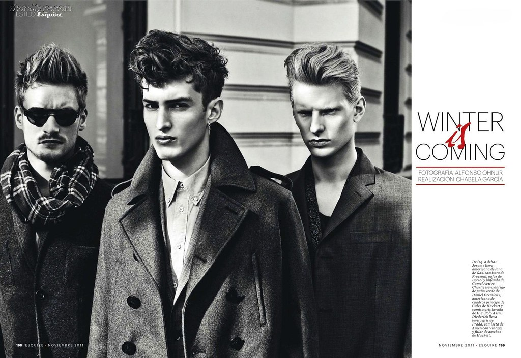 Esquire Spain December 2011_021Charlie France,Jerome Clark,Diederik Van der Lee(Flashbang@TFS)