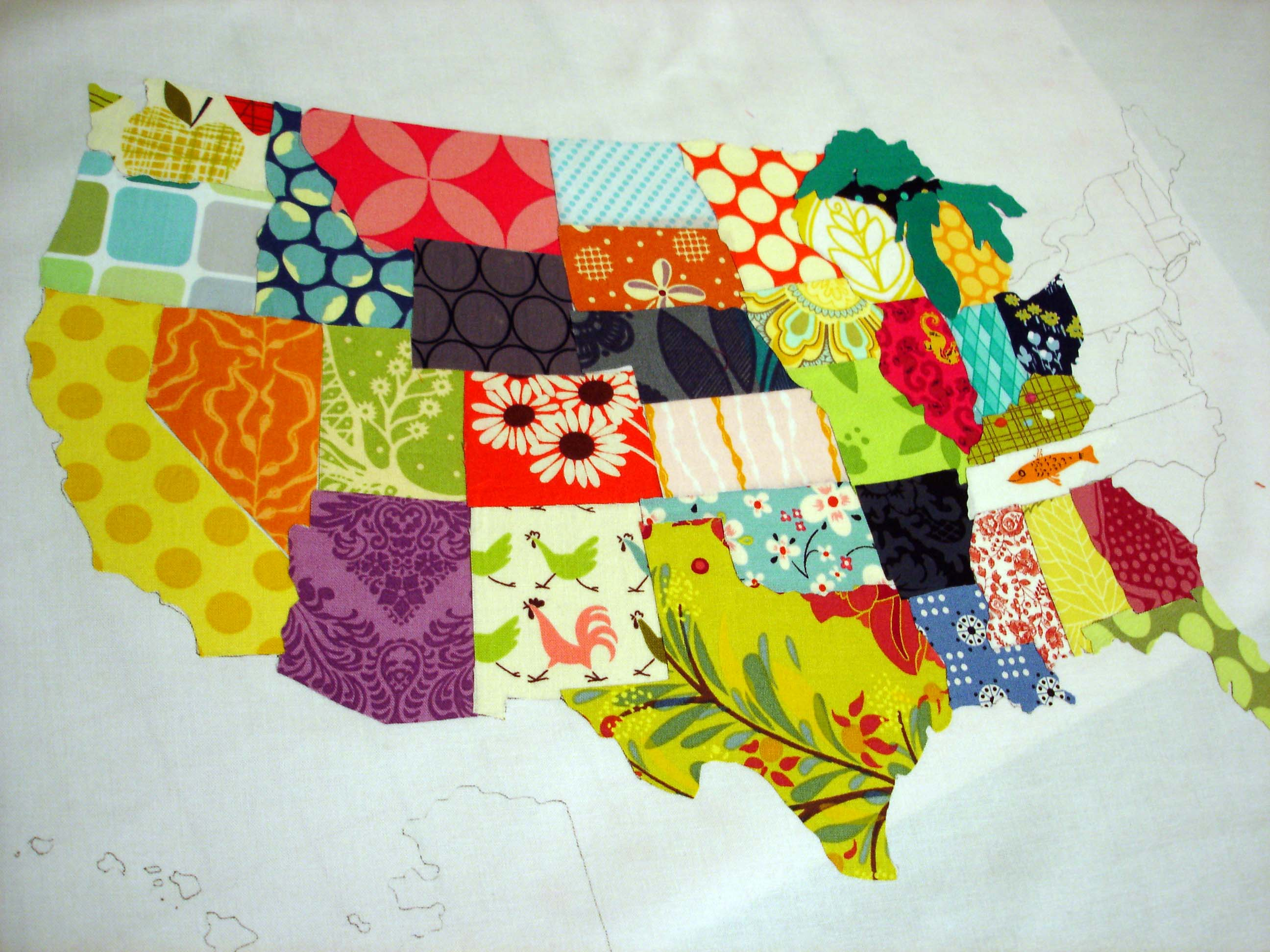 fabric map in progress