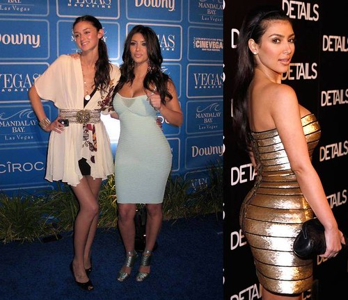Kim-Kardashian-vestido-ceñido-brillante