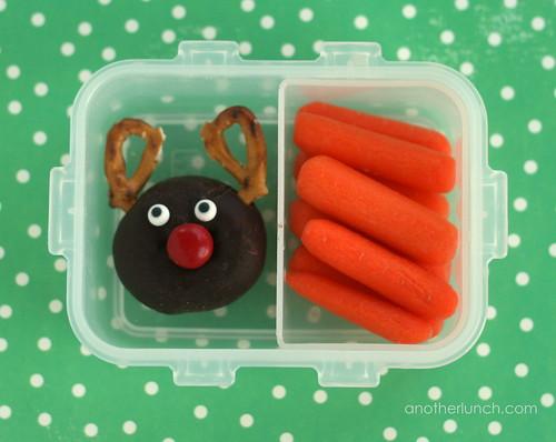 donut reindeer snack