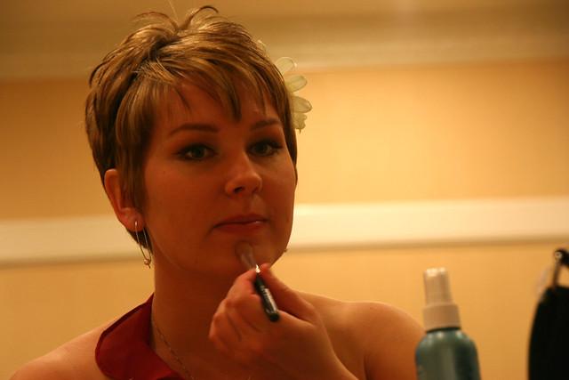 Anna getting ready