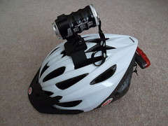 Hope Vision 1 LED with helmet mount
