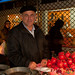 Pomegranate Vendor at Rasht Bazaar - Iran