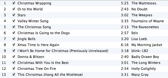 Christmas Playlist 2007
