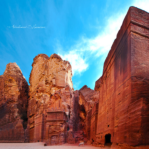 sunset sky orange tourism architecture clouds fire photography ancient tour exterior photos roman petra columns jordan syria damascus abdulhameed shamandour